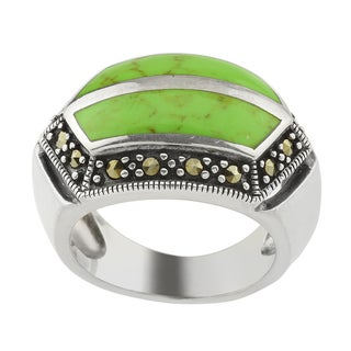 Green Turquoise Dome Ring