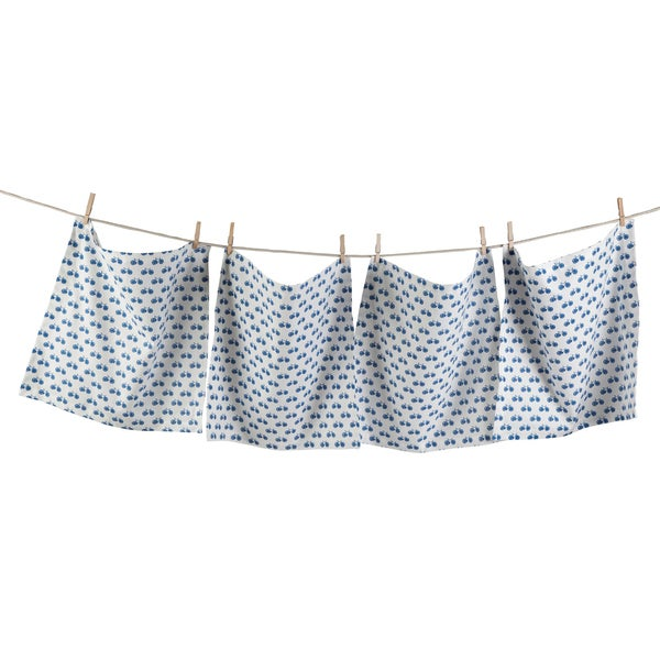 TAG Blue Bike Napkin (Set of 4)