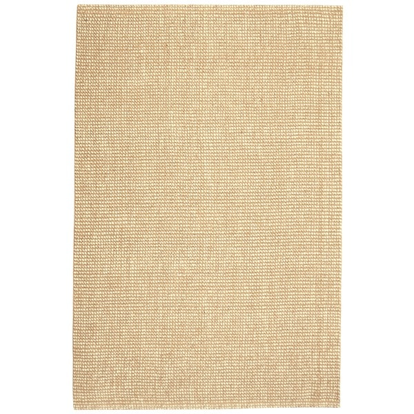 Jani Lhasa Natural Tan and Beige Wool and Jute Rug (2'6 x 8')