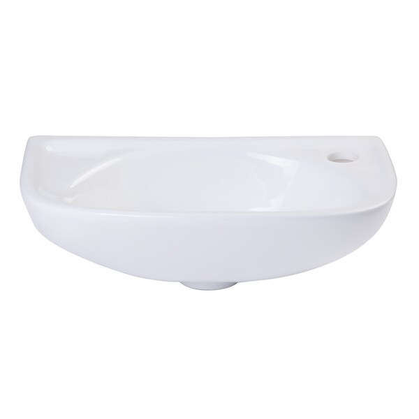 Alfi White Porcelain Wall-mounted Bathroom Sink Basin