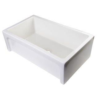 Alfi AB3018ARCH-B Biscuit Fireclay 30-inch Single-bowl Farm-style Kitchen Sink