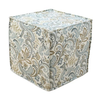 Findlay be13s3066 Seaglass Cotton 12.5-inch Square Seamed Foam Ottoman