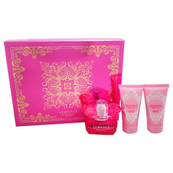 Versace Bright Crystal Absolu Women's 3-piece Gift Set