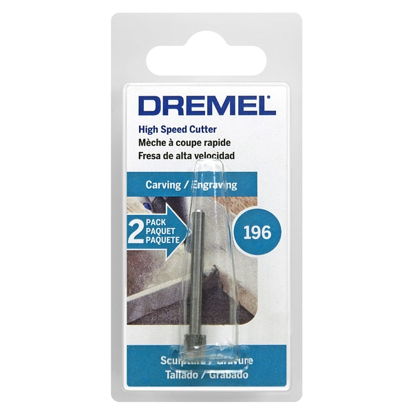 """Dremel 196-2 7/32"""" High Speed Cutter Impeller Style Rotary Tool Bit 2 Ct"""