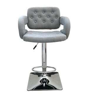 US Pride Furniture Olivia Fabric Adjustable Swivel Bar Stool