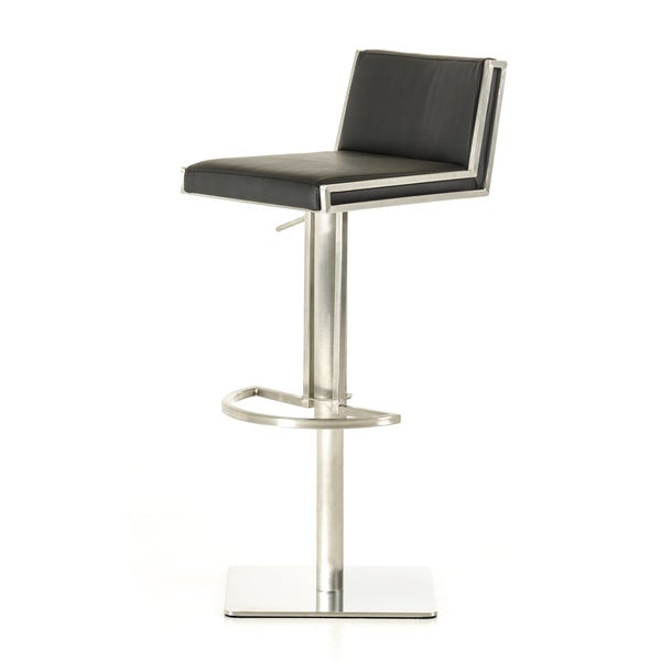 Modrest Keira Modern Black and Walnut Bar Stool