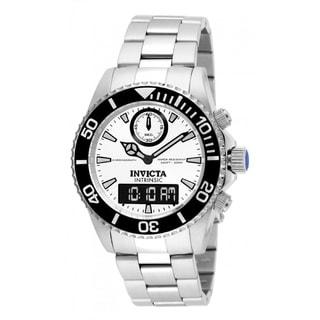 Invicta Men's Pro Diver Intrinsic Chronograph Analog-Digital Display Swiss Quartz Multifunction Steel Watch