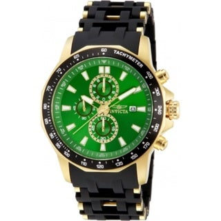 Invicta Men's Sea Spider Chrono Date Polyurethane Tachymeter Watch