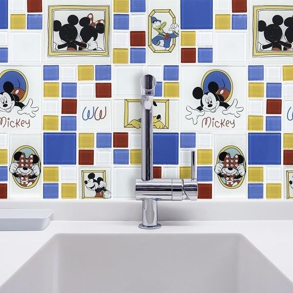 Disney 11.75x11.75-inch Classic Multi Glass Mosaic Wall Tile 19355629