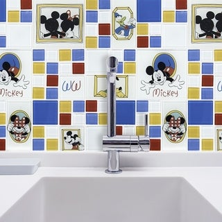 Disney 11.75x11.75-inch Classic Multi Glass Mosaic Wall Tile
