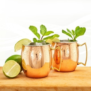 Copper/Stainless Steel 16-ounce Moscow Mule Mug (Set of 2)