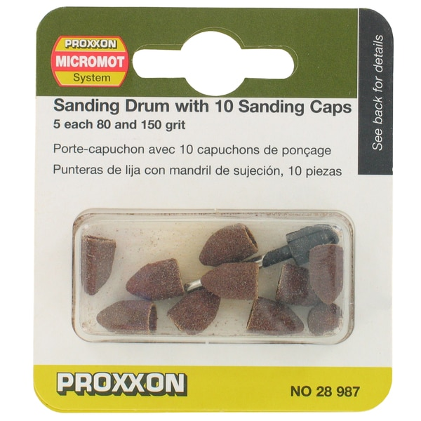 Proxxon 28987 Sanding Drum With 10 Sanding Caps