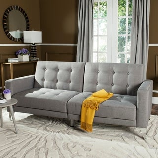 Safavieh Soho Two-in-One Foldable Grey Loveseat Sofa Bed