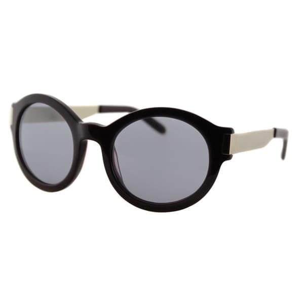 Cynthia Rowley Eyewear Maroon Plastic Round Sunglasses