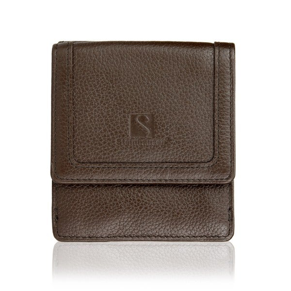 Steinhausen Genuine Leather Dark Brown Mens Wallet With ID Window