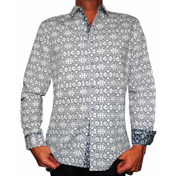 Rock Roll N Soul Men's 'Blue Bayou' Button-up Woven Top