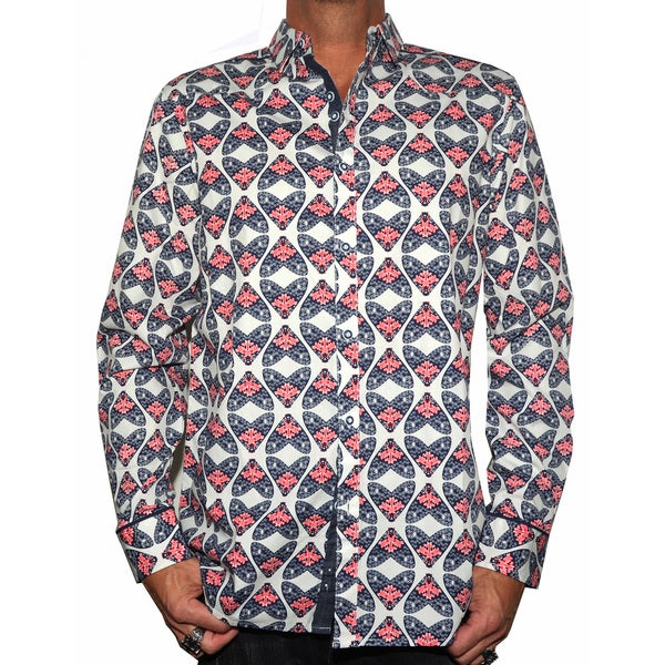 Rock Roll N Soul Men's 'Flys in a Jar' Button-up Woven Shirt