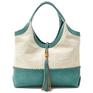 Steven by Steve Madden Fino Teal Suede-lined Textile/PVC Tote Bag
