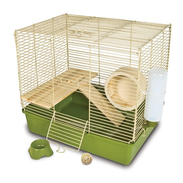 Ware Naturals Wire and Wood 16-inch Hamster Cage and Kit 19361758