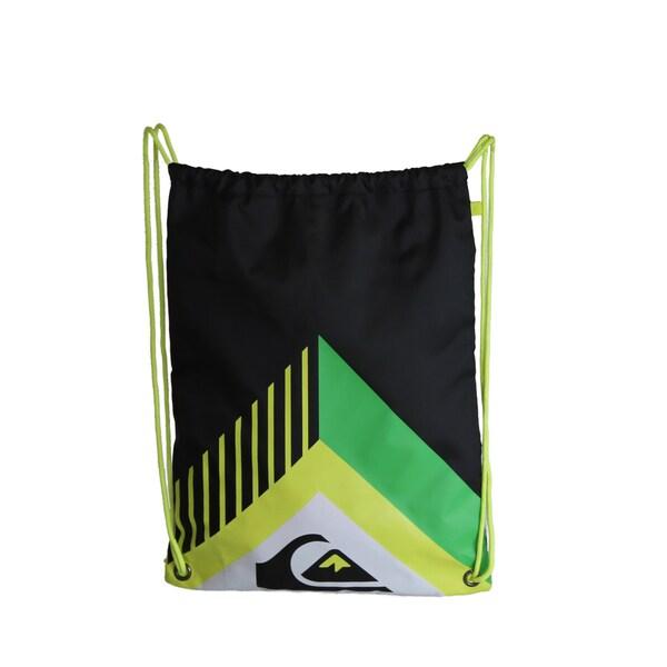 Quiksilver Everyday Acai Black Cinch Drawstring Backpack