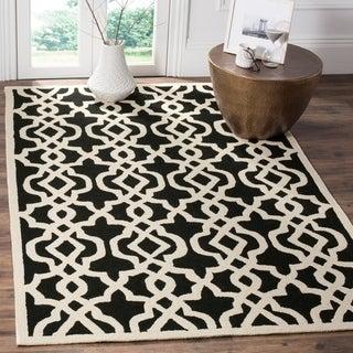 Safavieh Hand-hooked Indoor/ Outdoor Four Seasons Black/ Ivory Rug (9' x 12')