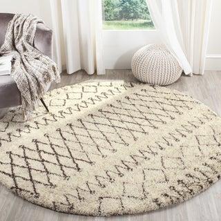 Safavieh Handmade Casablanca Ivory/ Natural Wool Rug (6' Round)