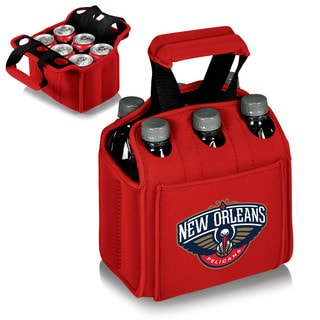 Picnic Time Six Pack New Orleans Pelicans Print Red