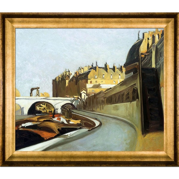 Edward Hopper 'Le Quai des Grands Augustins, 1909' Hand Painted Framed Canvas Art