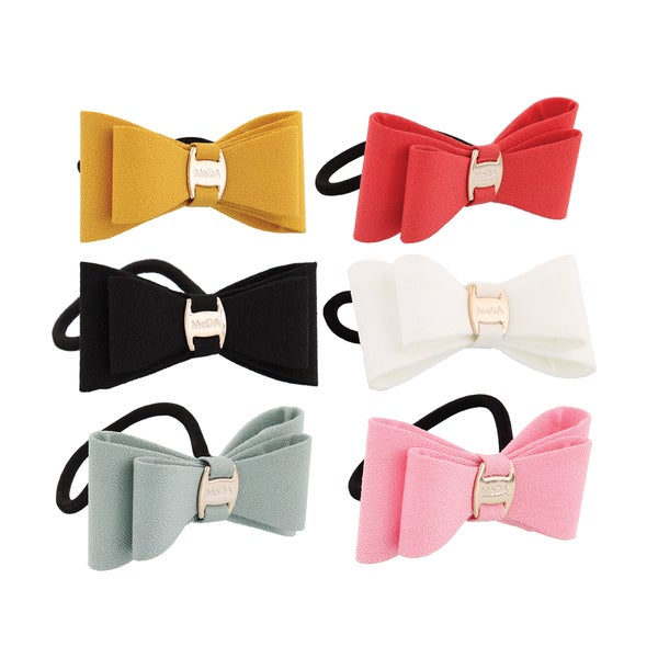MoDA 50's Dolly Bow Hair Tie (Pack of 6)