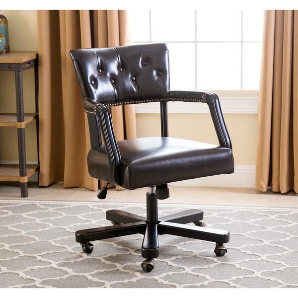 ABBYSON LIVING Quincy Dark Brown Office Chair
