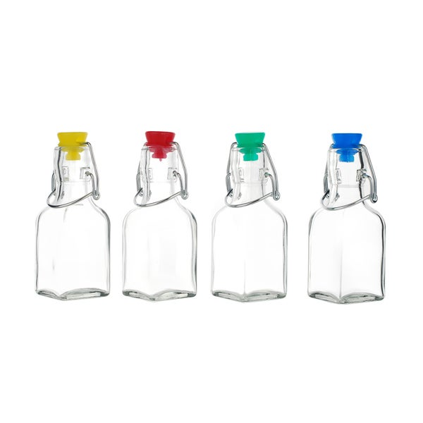Kinetic GoGreen Clear Glass 4-piece Mini Swing Bottle Set