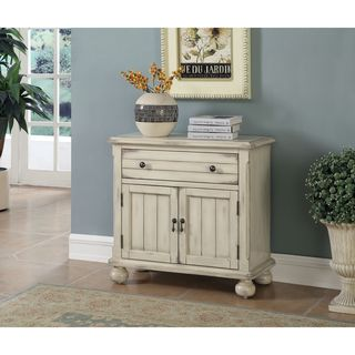 "Somette Two Door One Drawer Cabinet, Chipley Distressed Sand - 30""L x 14""W x 28.5""H"