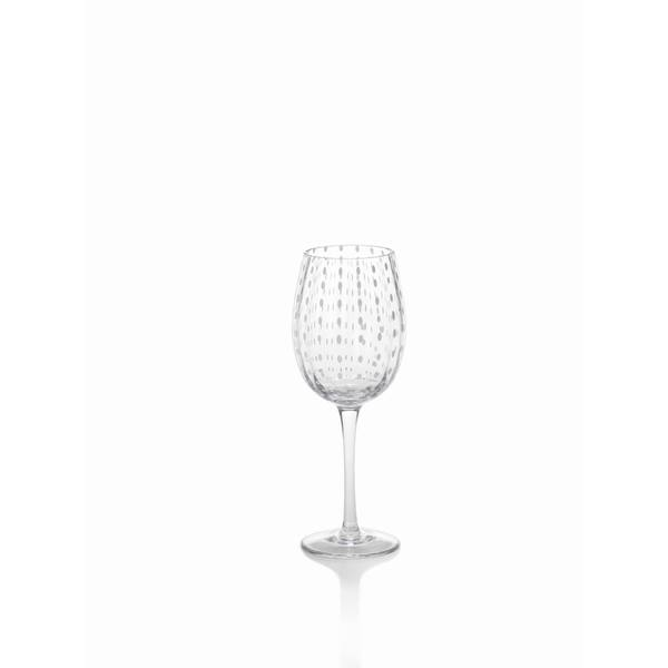 White Dots Wine Glass
