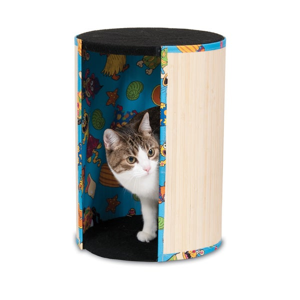 Fat Cat Kitty Kahuna Tiki Hut Cat Scratching Post & Cat Bed