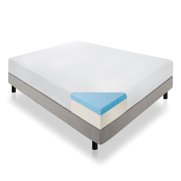 Lucid 12-inch Queen-size Gel Memory Foam Mattress