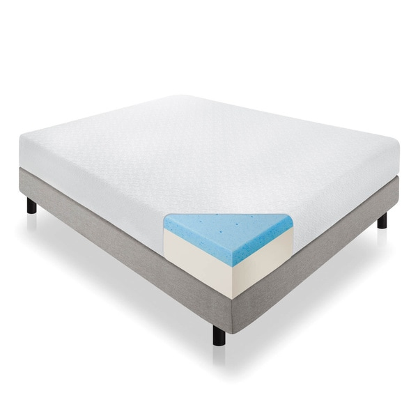 LUCID 12-inch California King-size Gel Memory Foam Mattress