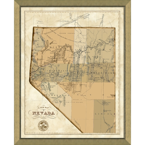 Framed Map of Nevada