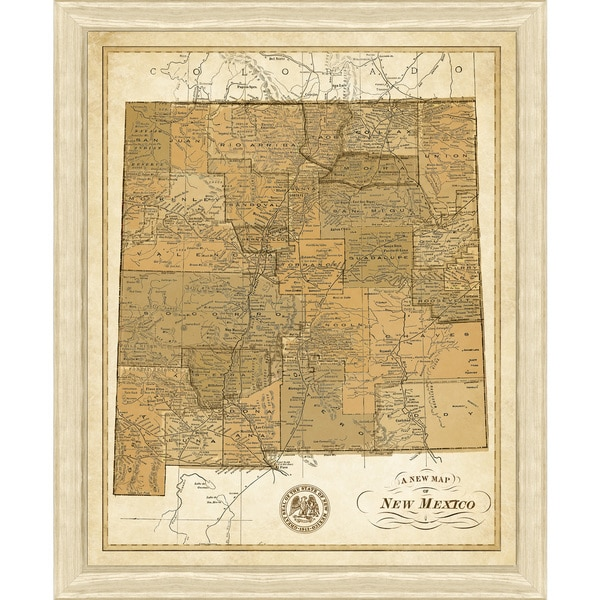 Framed Map of New Mexico