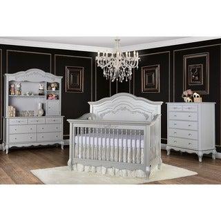Evolur Aurora Grey Wood 5-in-1 Convertible Crib