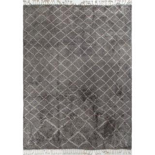 Graeme Grey/Ivory Wool Moroccan Rug (9' x 12')