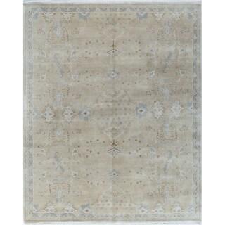 Athelstan Beige/Blue Wool Oriental Rug (7'11 x 9'8)