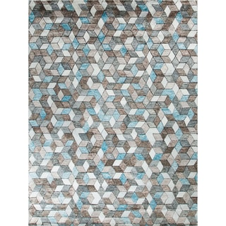 Harlan Ivory/Blue Indoor Area Rug (8'11 x 12'2)