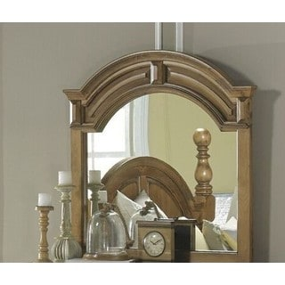 Surrey Bay Antiqued Brown Pine and MDF 44-inch Oval Mirror
