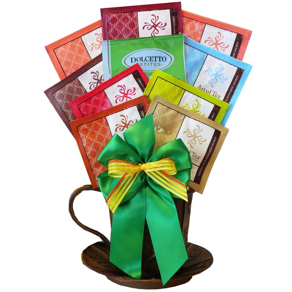 'A Cup of Cheer' Organic All-natural Tea Gift Basket 19363286