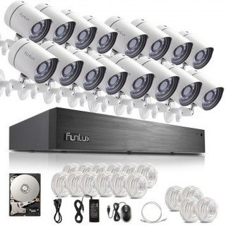 Funlux Smart Security White Camera System With 8 Hd