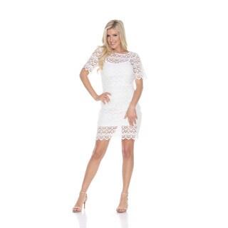 White Mark Women's Aria Polyester/Spandex Lace Dress
