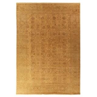 Exquisite Rugs Ziegler Gold/Beige New Zealand Wool Rug (9' x 12')