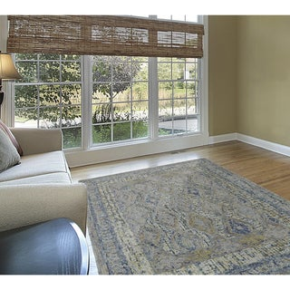 Grand Bazaar Iona Aura Multicolored Wool and Cotton Tufted Rug (8' x 11')