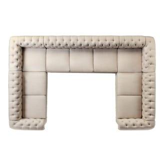 Moser Bay Furniture Roll Arm Nine (9) Seat Sectional Sofa Set