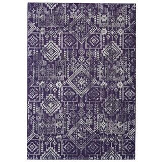 Grand Bazaar Saunders Violet/Beige Polypropylene Machine-made Rug (10' x 13'2)